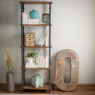Living Room Kitchen Storage 4-Shelf Bookcase Bookshelf Vintage Industrial Style HEFB519815-4