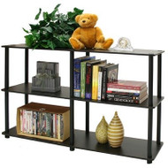 3-Tier Storage Display Shelf/Rack Bookcase in Espresso/Black F3TMSD3447-3