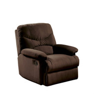 Comfortable Recliner Chair in Chocolate Brown Microfiber Upholstery AROCM179-3
