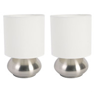 Set of 2 Bedroom Table Lamp Night Light with Touch On Off Sensor BTL350158-6