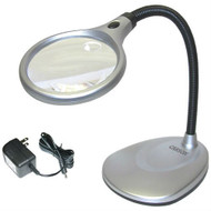 LED Illuminated 2X Magnifying Glass / Desk Lamp CD200LM22-8