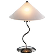 Modern 19-inch Table Light Touch Lamp with Frosted Glass Cone Shade LDFS464812-4