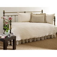 100% Cotton 5-Piece Daybed Bedding Set in Ivory ASCT5PD79I