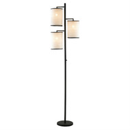 Modern Japanese Style 3-Light Tree Floor Lamp with Cotton Shades ABFL762913-4