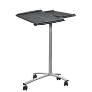 Adjustable Laptop Computer Cart Desk Stand in Steel with Espresso Top TMALC5001