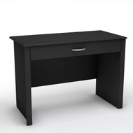 Black Laptop Computer Desk with Keyboard Tray Drawer SSWIDLD6798