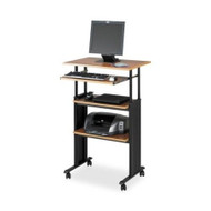 Adjustable Height Stand Up Office Desk in Medium Oak SWS26021MO