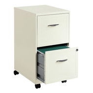 2-Drawer Pear White Steel File Cabinet with Casters C2SF62651