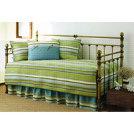 Green Stripe 5-Piece Daybed Cover & Bedding Set SC5PGS679