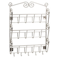 Metal Wall Mount Letter Holder Organizer in Satin Nickle Finish SDWML2901