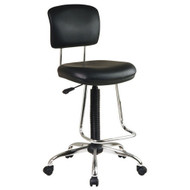 Chrome Finish Drafting Chair with Teardrop Chrome Footrest OFCFDC-3
