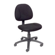 Black Office Chair with Padded Seat and Back with Lumbar Support BFDPC5701-3
