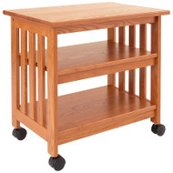 Mission Style Wood TV Stand / Printer Cart in Golden Oak Finish MWGO155685