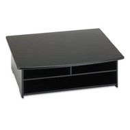2-Shelf Printer Stand with Paper Holder in Black RWPS74992