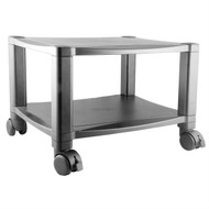 Sturdy 2-Shelf Mobile Printer Stand Cart in Black with Locking Casters SPS36995