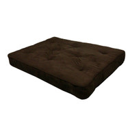 8-inch Thick Full Size Premium Coil Futon Mattress with Chocolate Futon Cover DHP8INCF148-4
