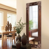 "Full Length 63"" Wall Mirror with Quality Wood Frame/Antique Silver Gold Accents FLWM5819841-4"