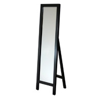 Contemporary Free-standing Floor Mirror in Espresso Wood Finish HWEFM9981-3