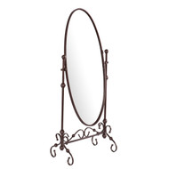 Antique Bronze Finish Metal Cheval Floor Mirror SELCM13951-4