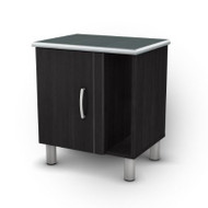 Black Onyx Nightstand with 1 Door & 1 Adjustable Shelf SSNSBO7900
