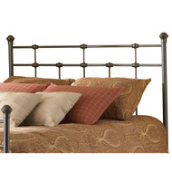 Twin size Classic Design Metal Headboard in Hammered Brown Finish FBHT9901