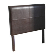 Twin size Brown Faux Leather Upholstered Headboard TYG8150