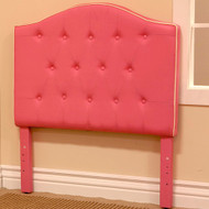 Twin size Light Pink Fabric Upholstered Headboard KTH1191P