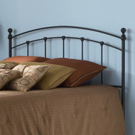 King size Arched Metal Headboard in Matte Black Finish KSH12901