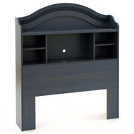 Twin size Arch Top Bookcase Headboard in Dark Blueberry Finish PBH13697