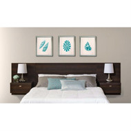 King size Floating Headboard with Nightstands in Espresso PFHN29488