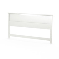 King size Contemporary Headboard in White Wood Finish SWH11098