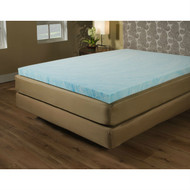 Queen size 2-inch Blue Gel Memory Foam Mattress Topper - Made in USA QMFT519858541
