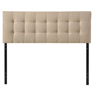 King size Beige Fabric Upholstered Mid-Century Style Headboard KLBFH698751