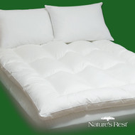 King size Fiber Bed Mattress Pad Topper in 100% Cotton KEFB8501