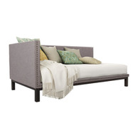 Grey Linen Fabric Upholstered Mid-Century Modern Daybed MGUDB5198741