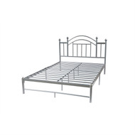 Full size Silver Metal Platform Bed Frame with Arched Headboard PADM54984521