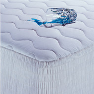 Full size Cotton Waterproof Mattress Pad with Hypoallergenic Fill WMPF4701