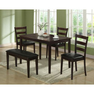 5-Piece Dining Set in Cappuccino Finish I-1211-MNQ1259