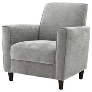 Modern Upholstered Arm Chair with Premium Foam Cushion Seating in Charcoal EAC2268475