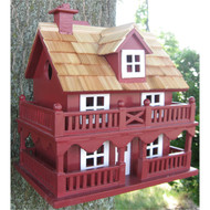 Red Wood Birdhouse - Made of Kiln Dried Hardwood CNCB5419