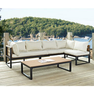 4-Piece Modern Outdoor Patio Furniture Set with Cushions HL4PC133057