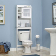 White Space Saving Over Toilet Bathroom Cabinet with 2 Adjustable Shelves SBCW5985142