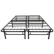 Queen size Black Metal Platform Bed Frame QMPBOS985412