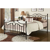 Queen size Brushed Bronze Metal Bed with Headboard and Footboard QMBDCINM519851