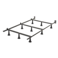Twin size 9-Leg Metal Bed Frame with Headboard Brackets LPW426203