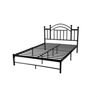 Queen size Black Metal Platform Bed Frame with Arch Style Headboard HMPBQ549841