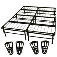 Queen size Metal Platform Bed Frame with Headboard and Footboard Brackets QMPBHF16981