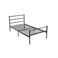 Twin Black Metal Platform Bed Frame with Headboard and Footboard TPBM51981829
