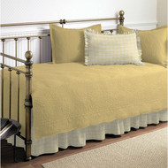 Twin size 100-Percent Cotton 5-Piece Quilt Set for Daybeds in Yellow MYQS61851