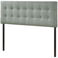 Full size Grey Fabric Button-Tufted Upholstered Headboard EFHFG9575261